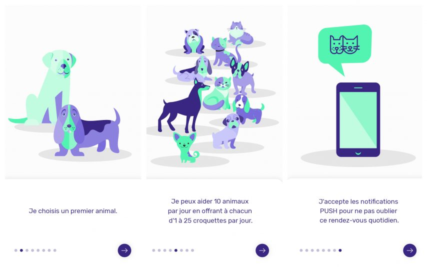 L'application Help Animals permet de faire des dons quotidiens à entre 1 et 10 animaux.